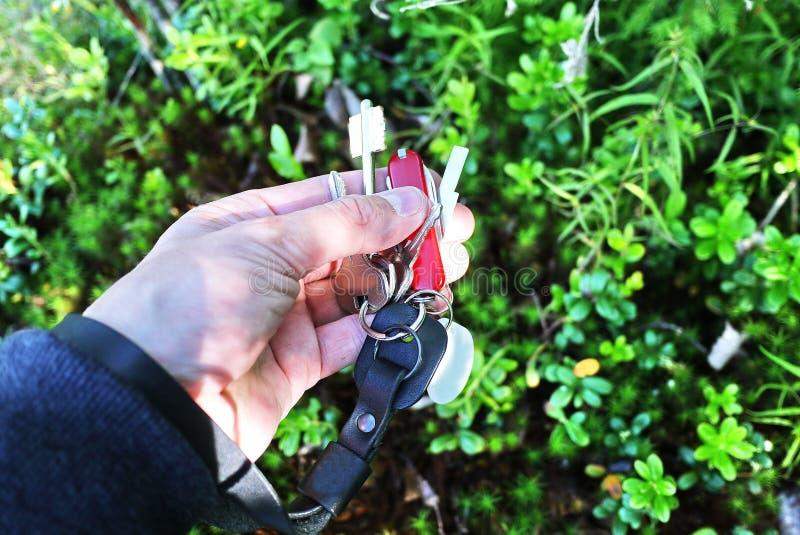 Courroie de Keychain D?tails et plan rapproch? photographie stock