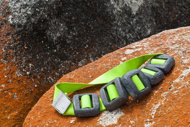 Courroie de poids de plongeur autonome photos stock