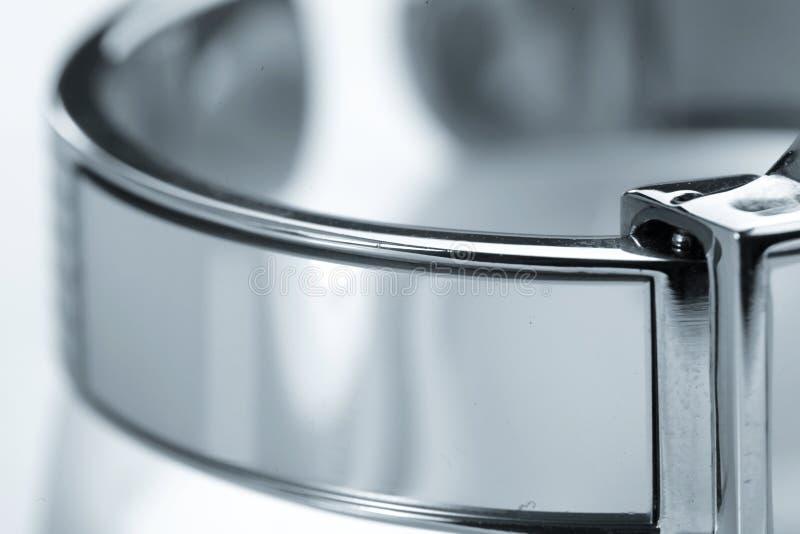Courroie en métal de montre image stock