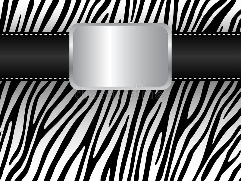 Courroie sur le fond d'un zèbre illustration libre de droits
