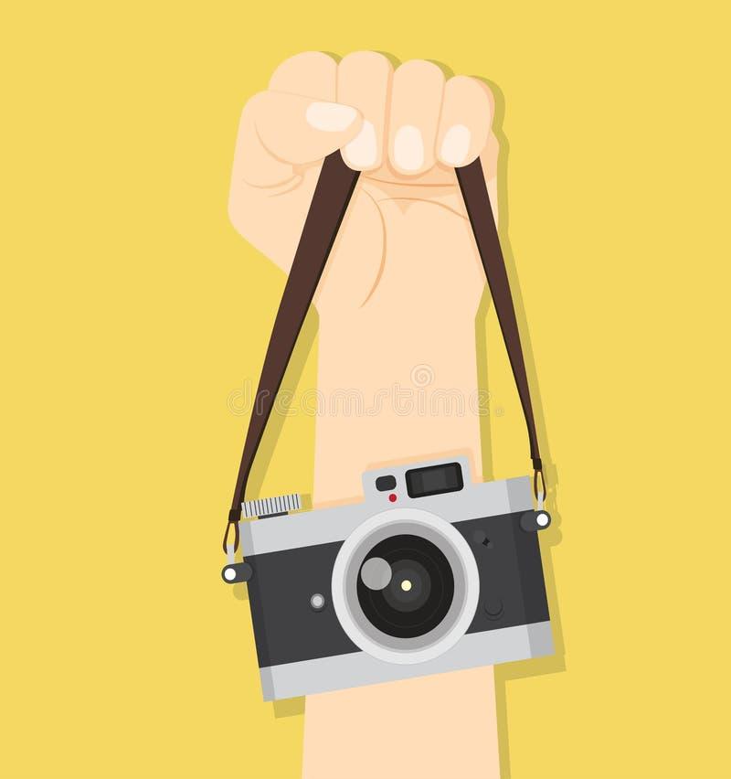 Courroies de main d'appareil-photo illustration stock