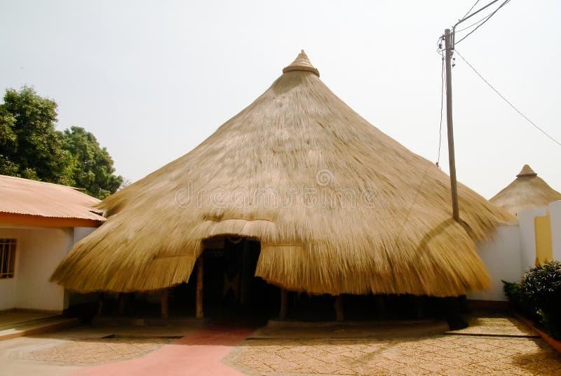Cours拉米多宫殿,恩冈代雷,喀麦隆外部  库存照片