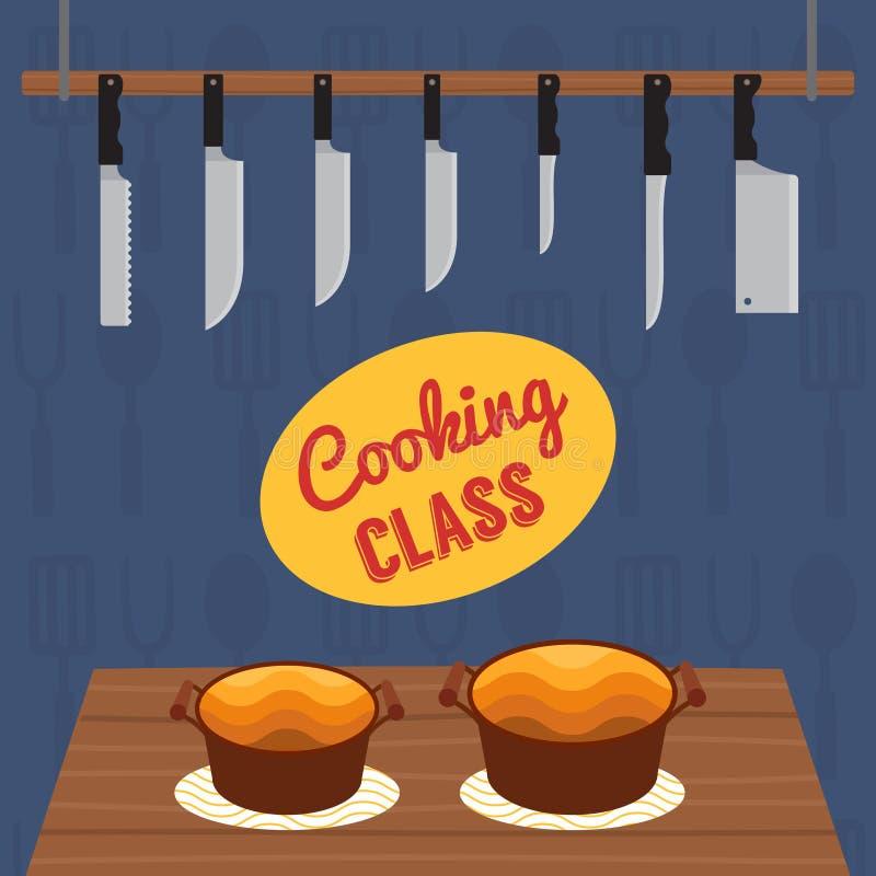 Cours de cuisine culinaire illustration libre de droits
