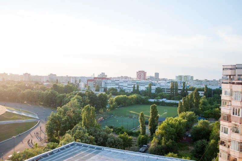 Cours de formation dans la ville photo stock