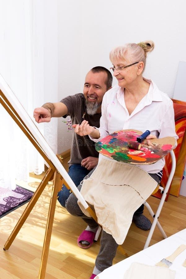 Cours de peinture image libre de droits