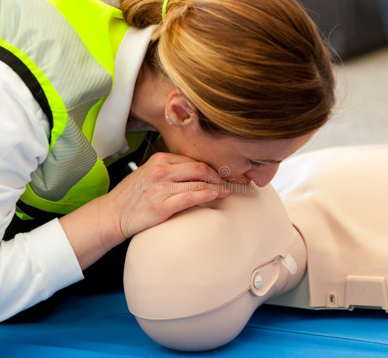 Cours des premiers secours photo stock