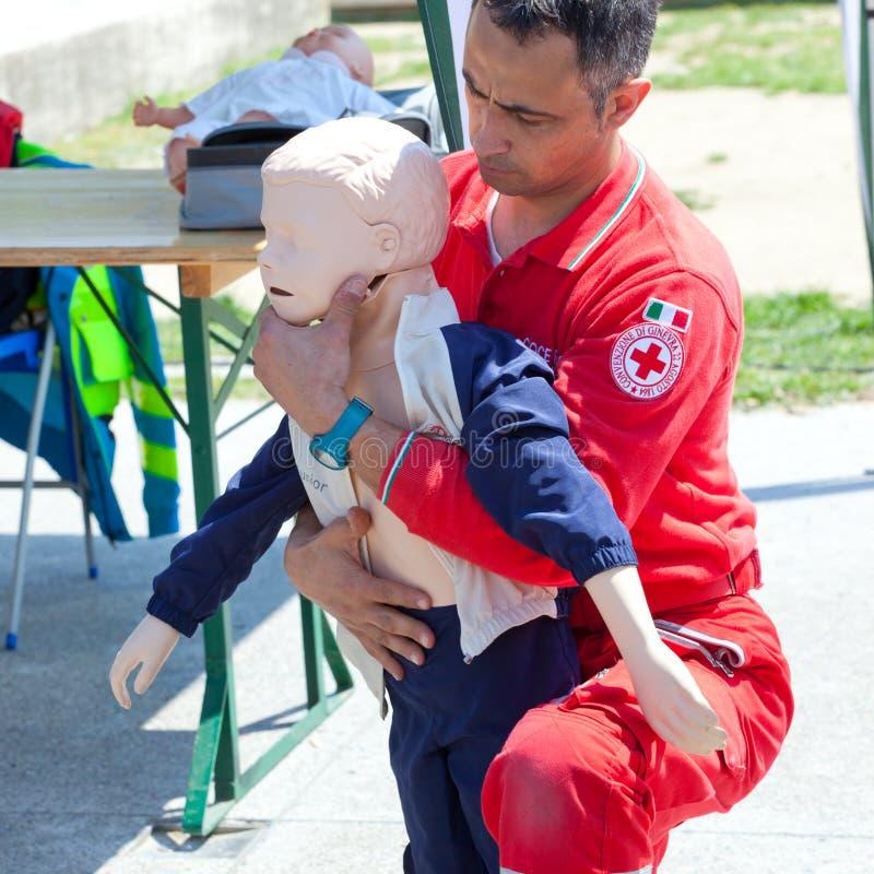 Cours des premiers secours photographie stock libre de droits