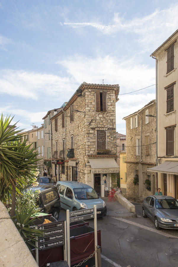 Cours Masséna, Antibes, Frankrike royaltyfri fotografi
