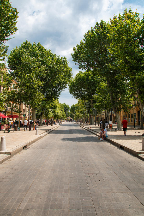 Cours Mirabeau photo stock