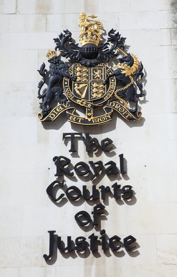 Cours royales de signe de Justice images libres de droits