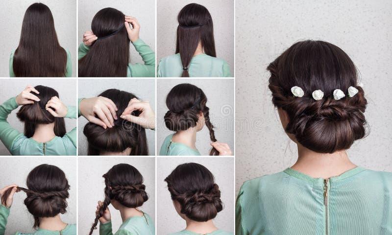 Cours simple d'individu de coiffure photographie stock