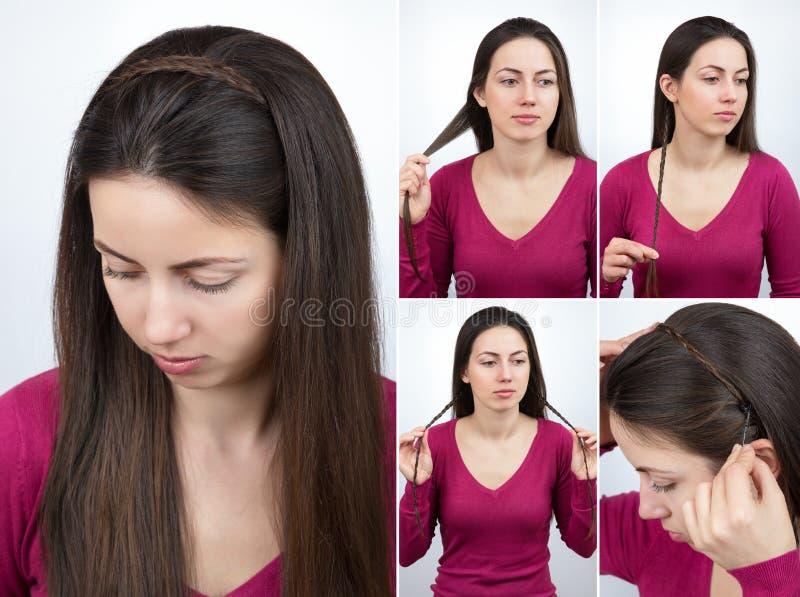 Cours tressé de cercle de coiffure photo libre de droits