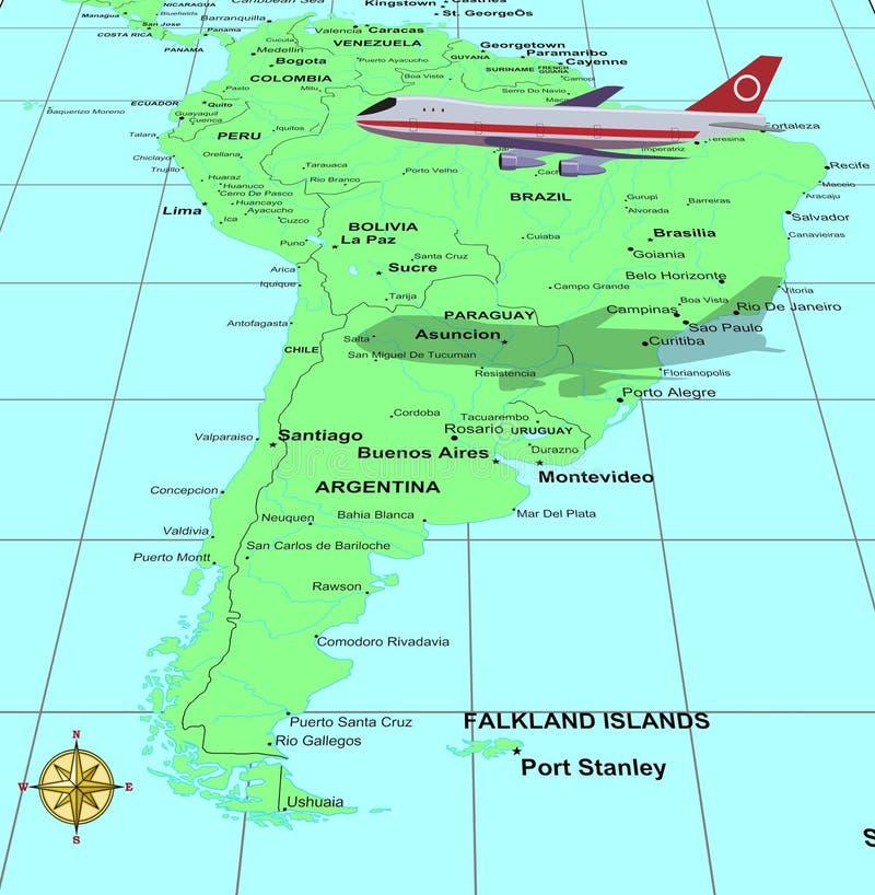 Course Amérique du Sud illustration stock