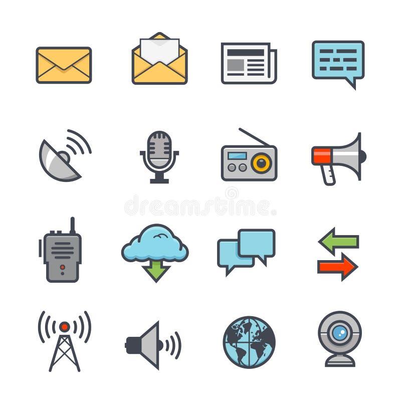 Course audacieuse d'icône de communication avec la couleur illustration stock