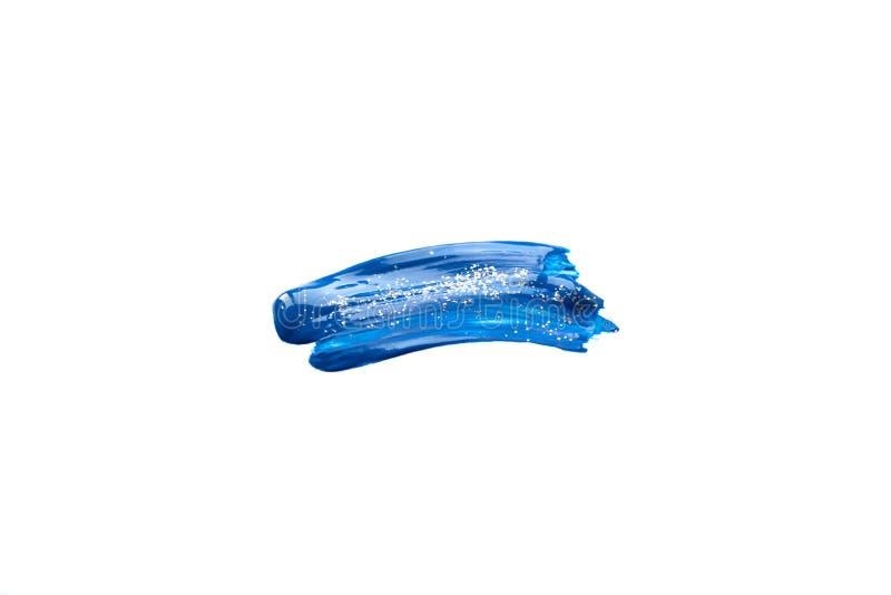 Course bleue du pinceau avec des paillettes illustration stock