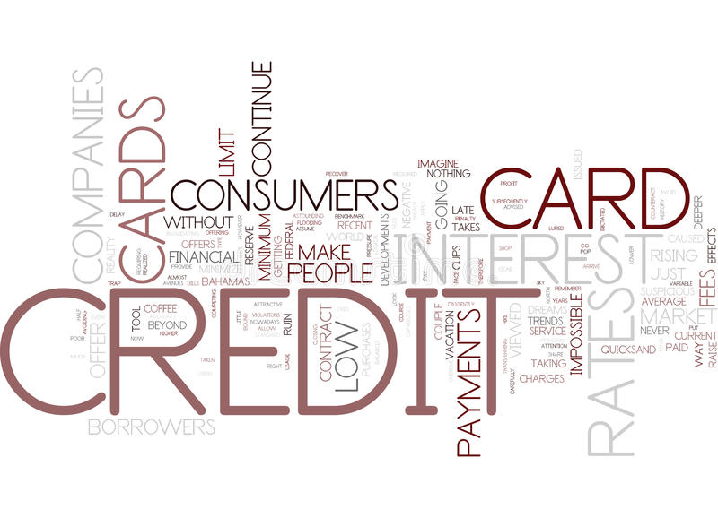 The Course Of The Credit Cards What Can People Do Text Background Word Cloud Concept royalty free illustration