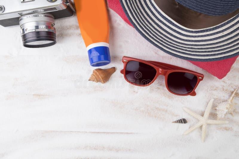 Course d'été Plage blanche de sable de Topview avec la substance d'été Hipst photo libre de droits