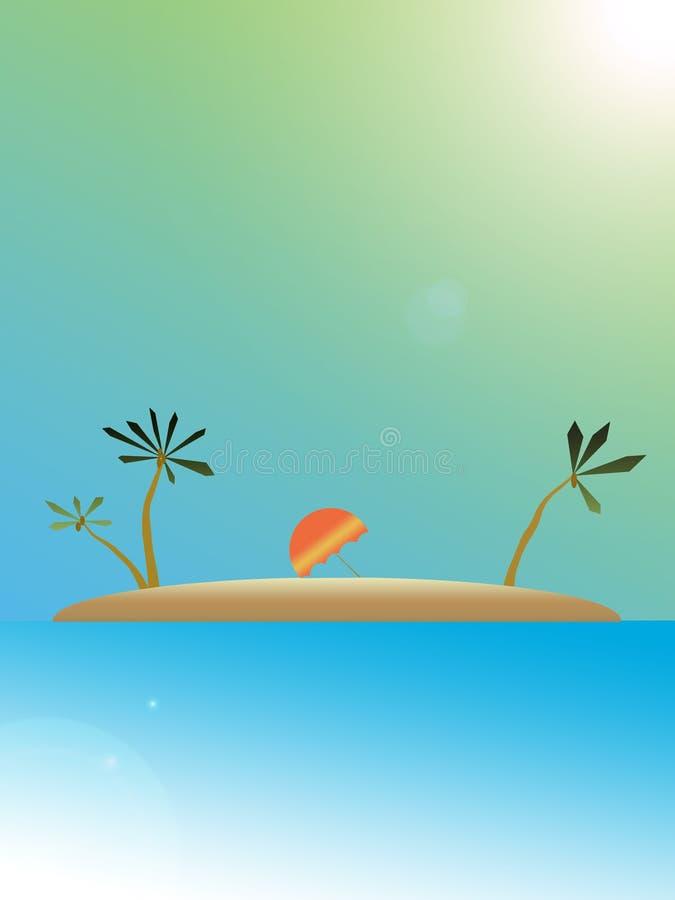 Course d'île illustration libre de droits