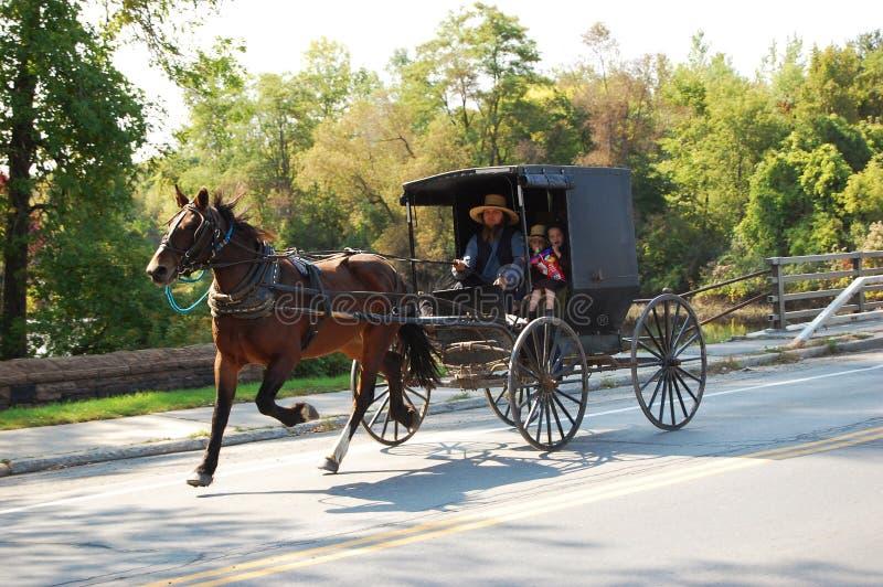 Course d'Amish images libres de droits