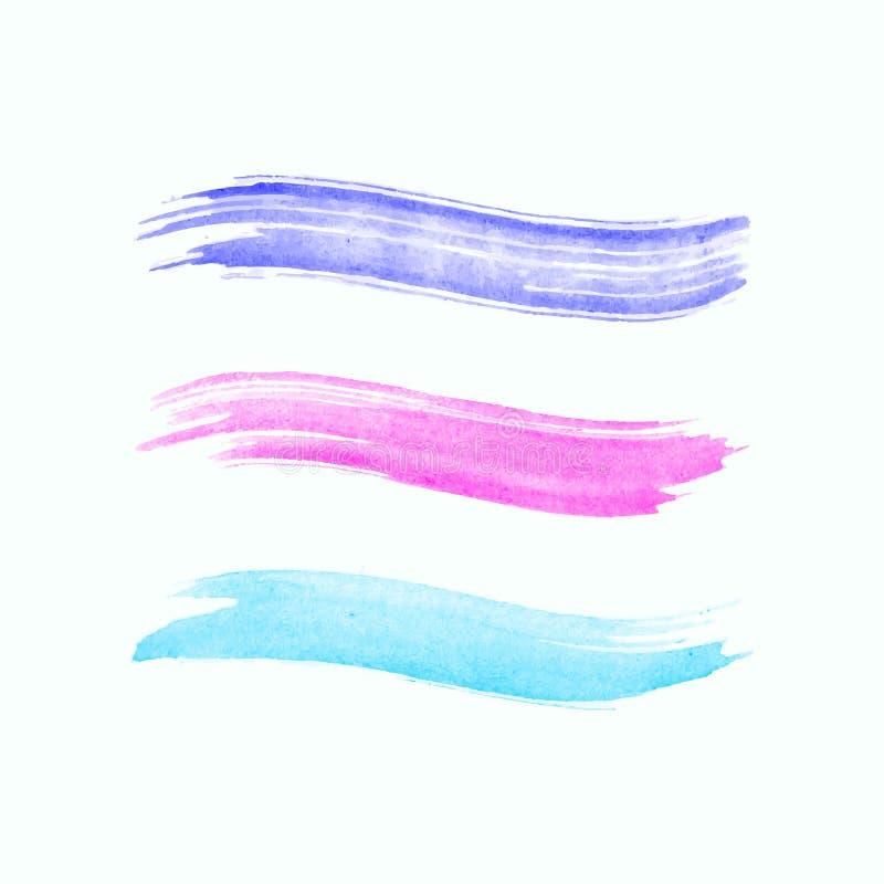 Course d'aquarelle d'isolement sur le fond blanc illustration libre de droits