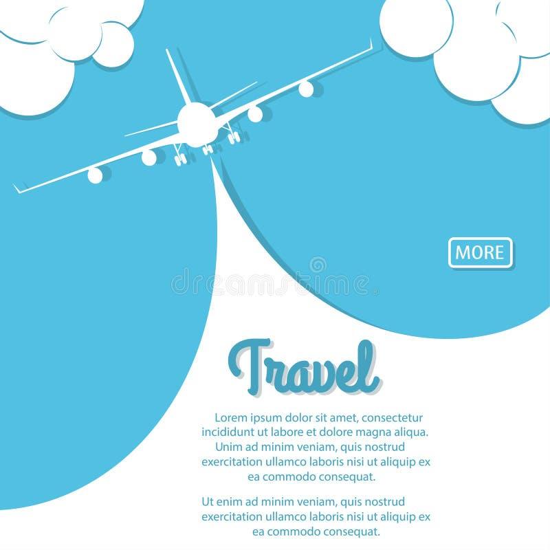 Course d'avion Biplan avec la bannière illustration stock