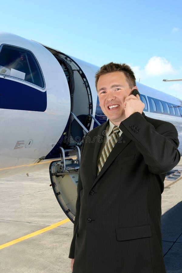 Course d'avion - homme d'affaires photos libres de droits