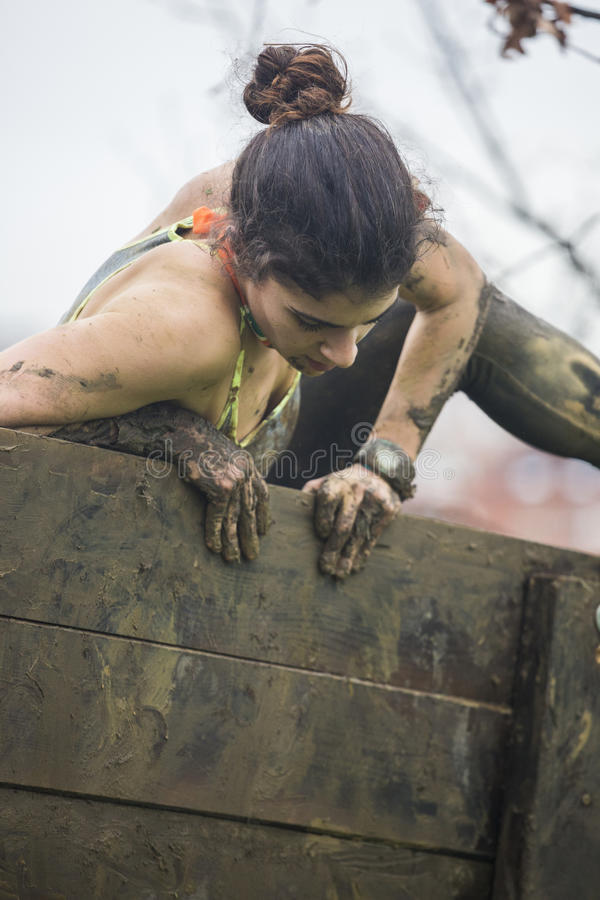 Course d'obstacle extrême image stock