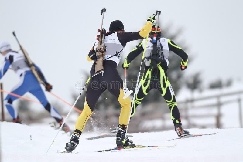 Course de biathlon image stock