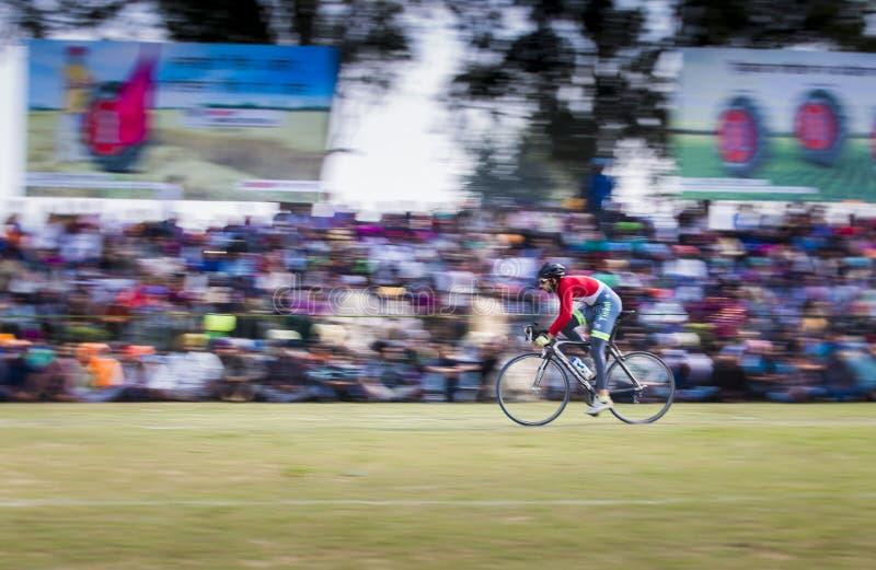 Course de bicyclette image stock