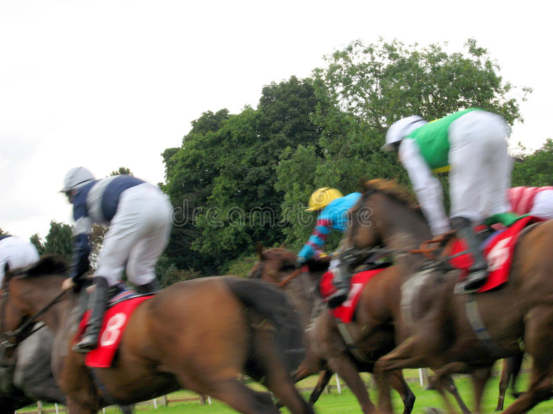 Course de chevaux à York photos libres de droits