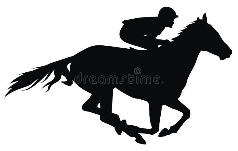 Course de chevaux illustration de vecteur