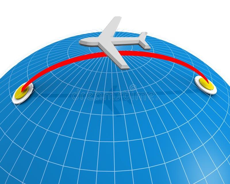 Course de compagnie aérienne et concept de vacances illustration de vecteur