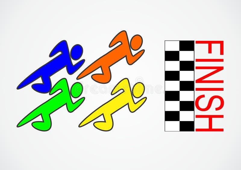 Course de concurrence de logo photographie stock