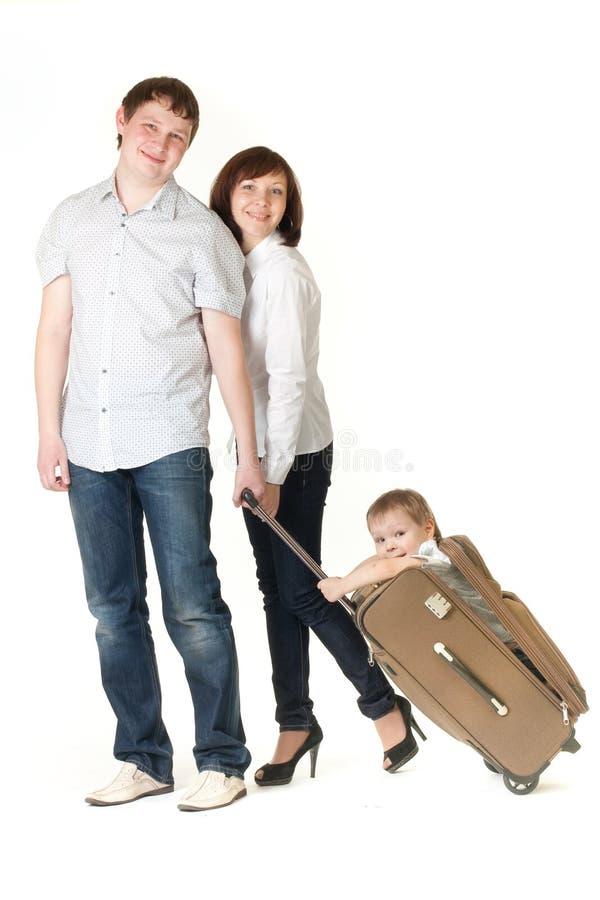 Course de famille photographie stock