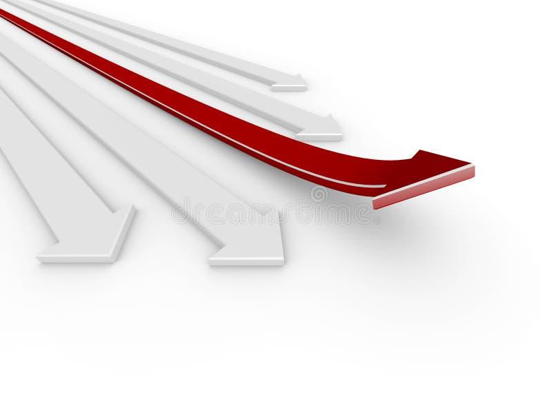 course de la flèche 3d illustration de vecteur