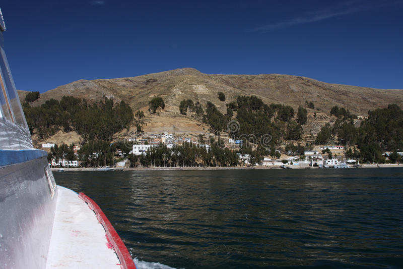 Course de lac Titicaca image stock