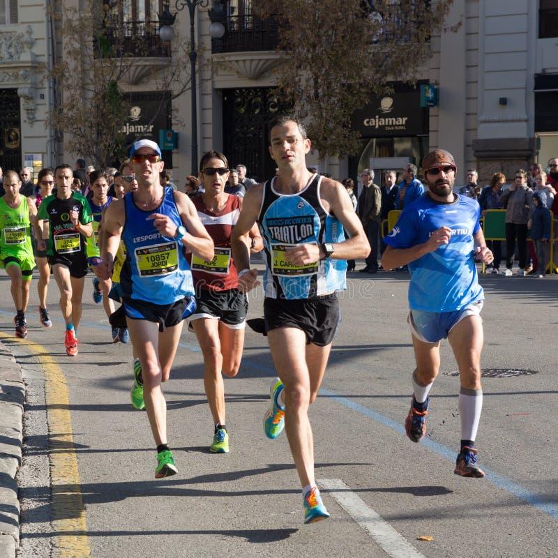 Course de marathon de Valence, Espagne photos stock