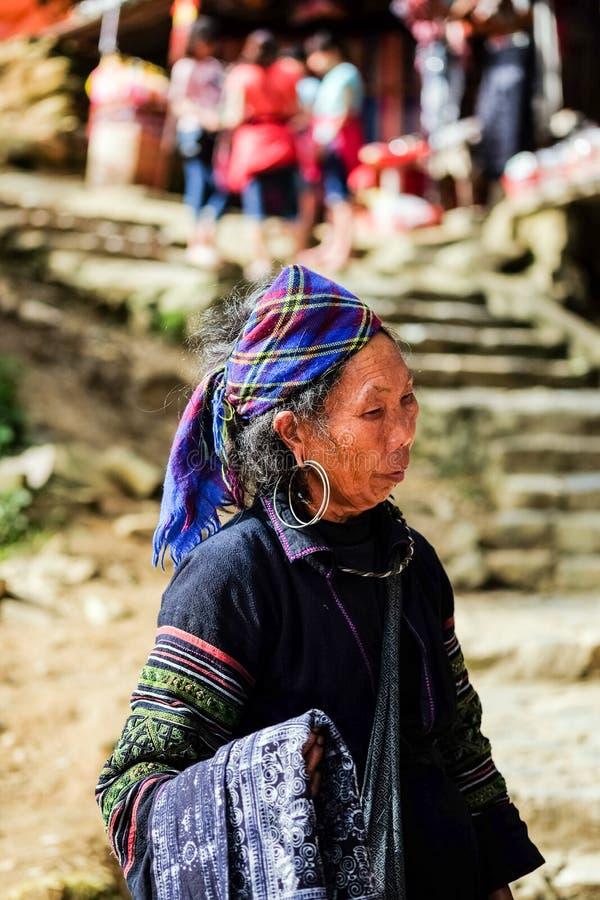 Course de Mhong sur du nord du veitnam image stock