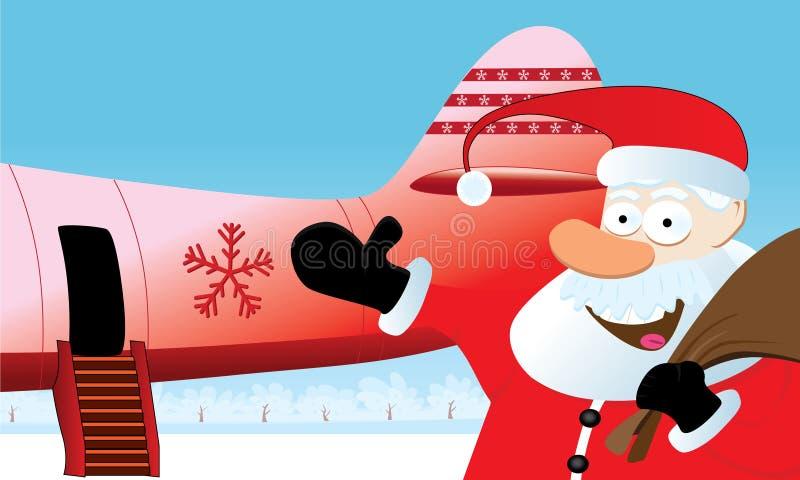 Course de Noël illustration de vecteur