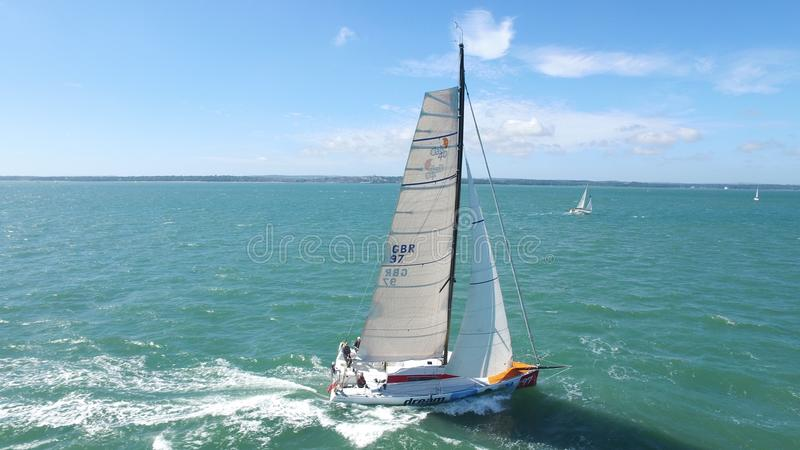 Course de Solent photo stock