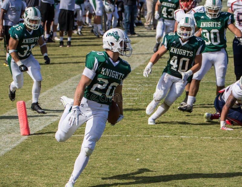 Course de touchdown de ligne de touche photo libre de droits