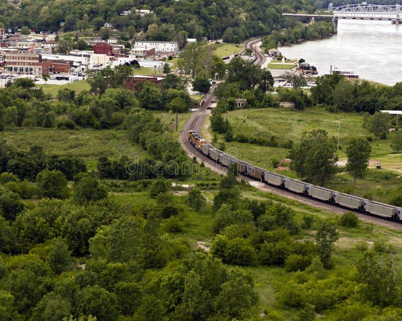 Course de train image stock