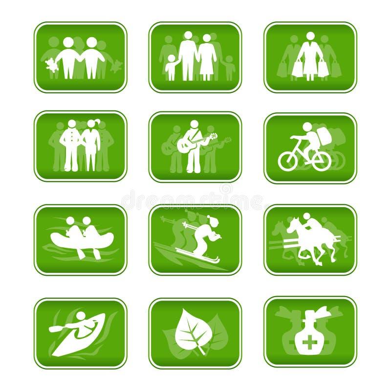 Course et sport de famille de graphismes illustration libre de droits