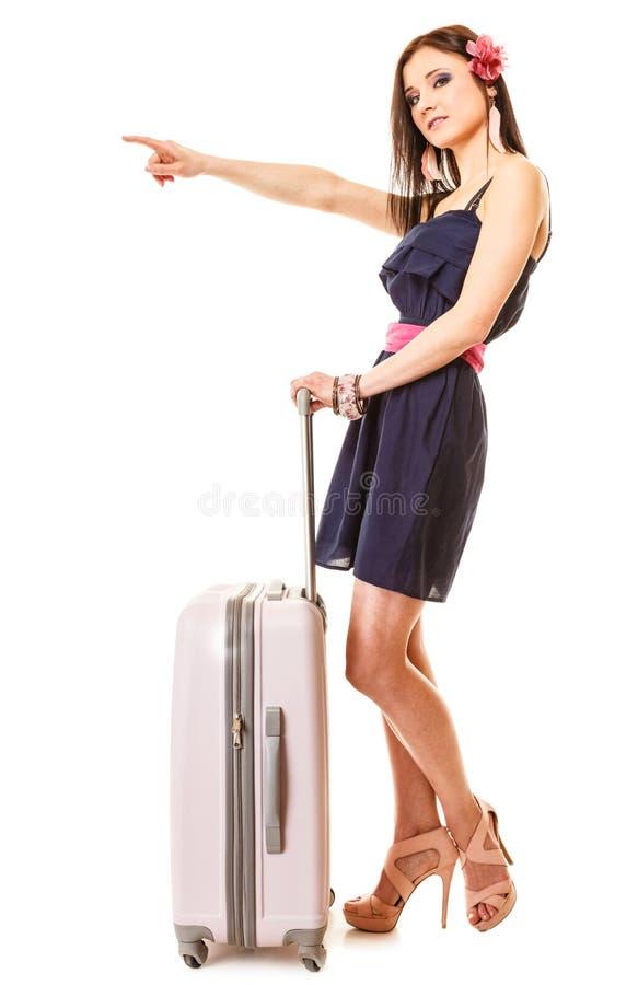 Download Course Et Vacances Femme Avec Le Sac De Bagage De Valise Image stock - Image du fille, valise: 45361485