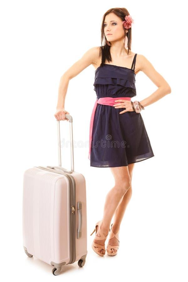 Download Course Et Vacances Femme Avec Le Sac De Bagage De Valise Image stock - Image du femelle, bagage: 45361489