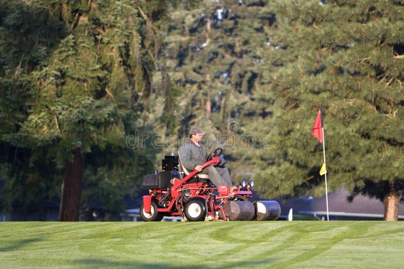 course golf groundskeeper στοκ εικόνα