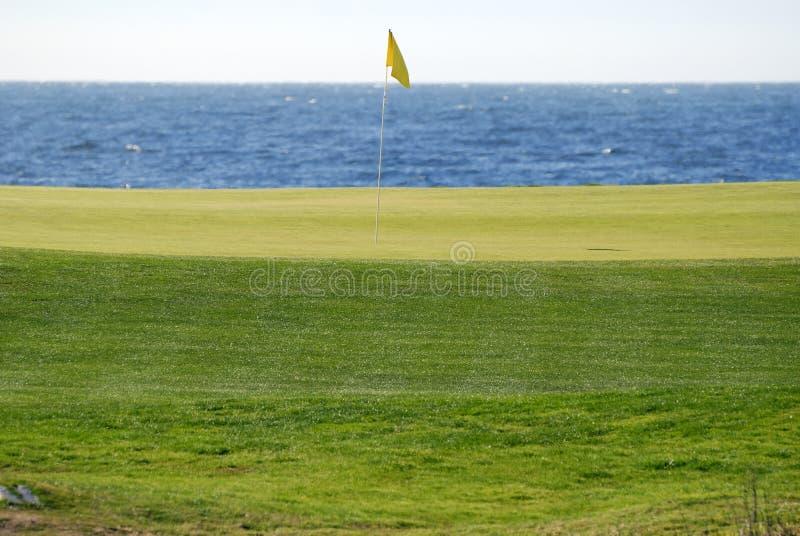 course golf peach pebble στοκ φωτογραφίες