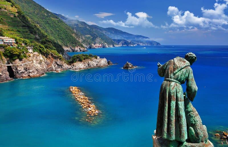 Course jument en de l'Italie - du Monterosso Al photos libres de droits