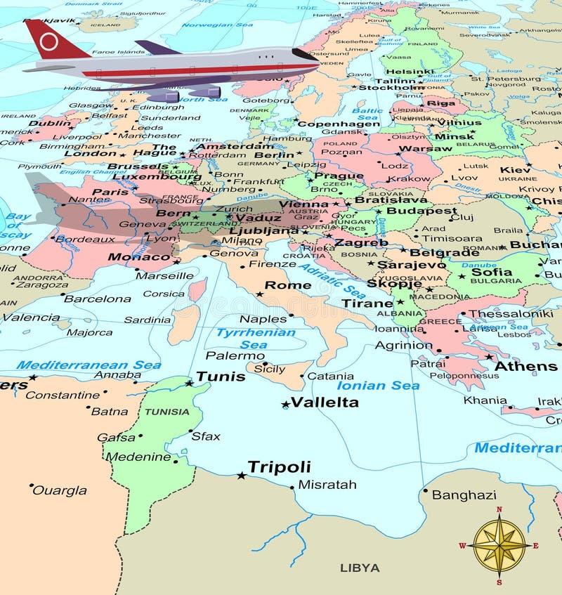 Course l'Europe illustration libre de droits