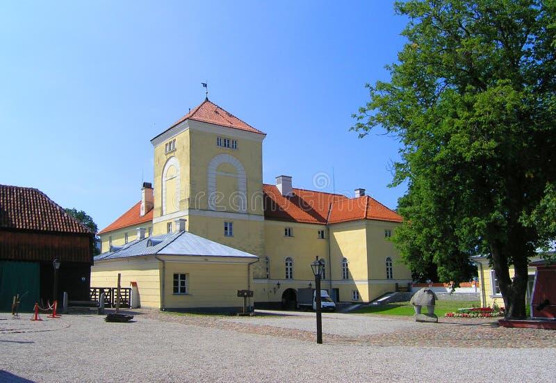 Course Lettonie : Château dans Ventspils photo stock